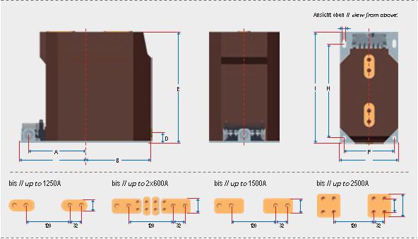 Трансформаторы тока SGS для внутренней установки